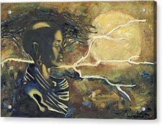 African Moon Acrylic Print