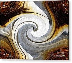 African Moon Twirls Acrylic Print