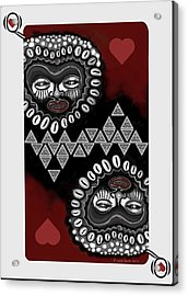 African Queen-of-hearts Card Acrylic Print by Carol Jacobs