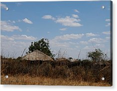 African Series Masai Hut Acrylic Print by Katherine Green