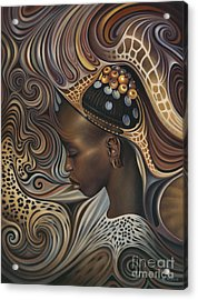 African Spirits II Acrylic Print by Ricardo Chavez-Mendez