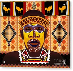 African Tribesman 2 Acrylic Print by Peter Awax