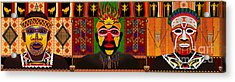 African Tribesmen Acrylic Print by Bedros Awak