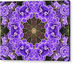 African Violet Mandala Acrylic Print