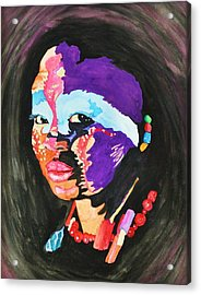 African Woman Acrylic Print by Glenn Calloway