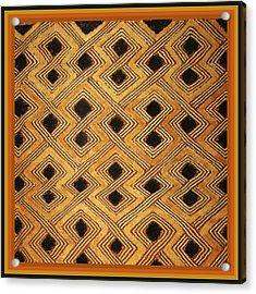 African Zaire Congo Kuba Textile Acrylic Print