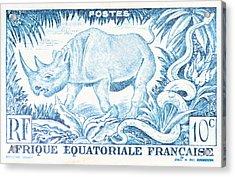 Afrique Rhino Acrylic Print