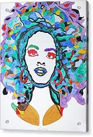 Afro Lauryn Hill  Acrylic Print