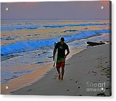 After A Long Day Of Surfing Acrylic Print by John Malone