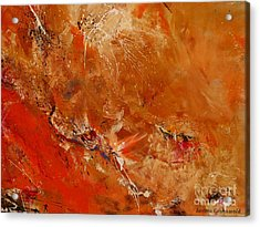 After A Long Time - Abstract Art Acrylic Print by Ismeta Gruenwald