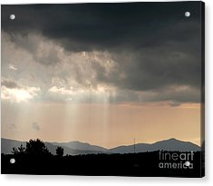 After A Rain Storm Acrylic Print by Steven Valkenberg