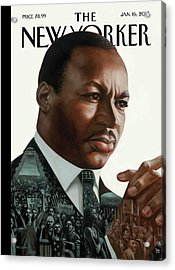 After Dr. King Acrylic Print by Kadir Nelso