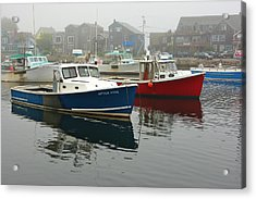 After Five  Rockport Harbor Acrylic Print by Gail Maloney