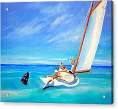 After Hopper- Sailing Acrylic Print