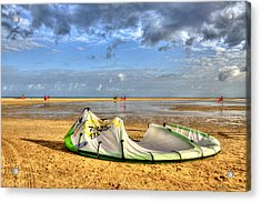 Acrylic Print featuring the photograph After Kiteboarding Session by Julis Simo