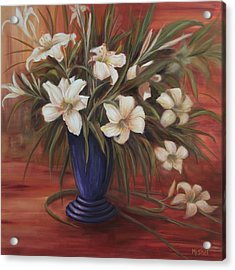 After Noon Lilies Acrylic Print