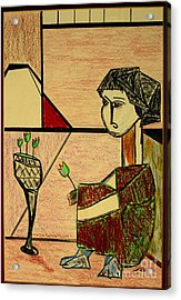 Acrylic Print featuring the pastel after Picasso by Bill OConnor