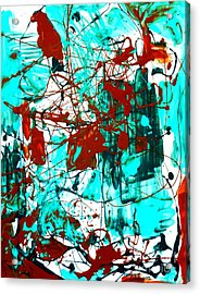 After Pollock Acrylic Print by Genevieve Esson