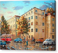 Acrylic Print featuring the painting After Rain by Dmitry Spiros