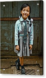 After School Pose Acrylic Print