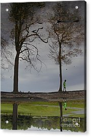 After Soccer By The Pond Acrylic Print