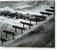 Acrylic Print featuring the photograph After Storm Sandy by Joan Reese