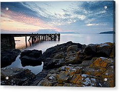 After Sun At Portencross Acrylic Print by Stephen Taylor