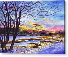 After The Blizzard Bayville Acrylic Print by Susan Herbst