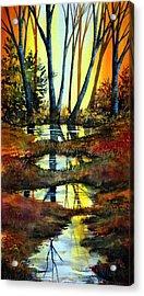 After The Rain Acrylic Print by Ann Marie Bone
