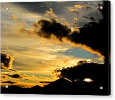 After The Rain Came The Sunset. Acrylic Print by Joyce Woodhouse