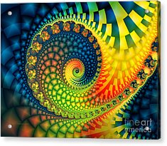 After The Rain-fractal Art Acrylic Print