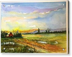 Acrylic Print featuring the painting After The Rain Storm Sold by Richard Benson