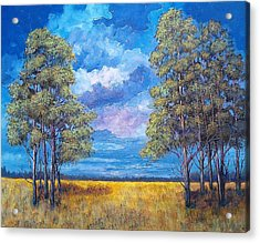 Acrylic Print featuring the painting After The Rain by Suzanne Theis