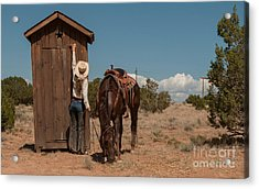 After The Ride Acrylic Print by Sherry Davis