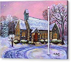 After The Snow On Christmas Eve Acrylic Print by Rita Brown