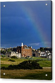 After The Storm At St. Andrews Golf Old Course Scotland Acrylic Print by Sally Ross