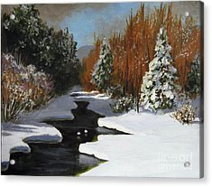 Acrylic Print featuring the painting After The Storm by Carol Hart