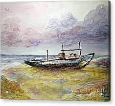 Acrylic Print featuring the painting After The Storm by Joey Agbayani