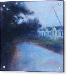 Acrylic Print featuring the painting After The Storm by Rosemarie Hakim