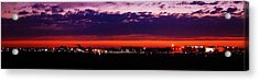 After The Sunset At Gerald R Ford Airport Acrylic Print by Rosemarie E Seppala
