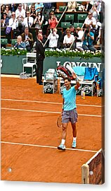 Rafael Nadal After Victory Acrylic Print by Alexi Hoeft