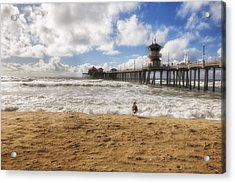 After Winter Storm At Pier Acrylic Print