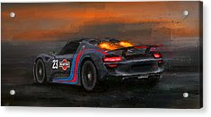 Afterburners On Acrylic Print by Alan Greene