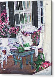 Afternoon At Emmanline's Front Porch Acrylic Print by Helena Bebirian