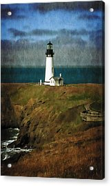 Afternoon At The Yaquina Head Lighthouse Acrylic Print