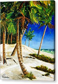 Afternoon Beach Walk Acrylic Print