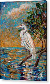 Afternoon Egret Acrylic Print