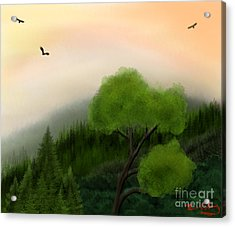 Afternoon Hills Acrylic Print