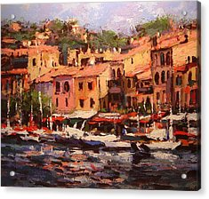 Afternoon In Cassis Acrylic Print by R W Goetting