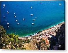 Acrylic Print featuring the photograph Afternoon In Taormina by Brad Brizek